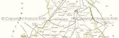 Old map of Black Ham centred on your home