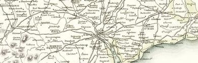 Old map of Beehive Hut centred on your home