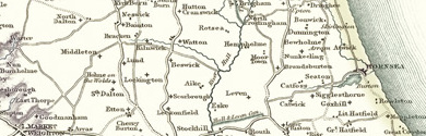 Old Map of East Riding of Yorkshire