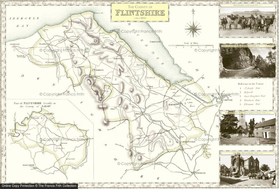 Map of Flintshire