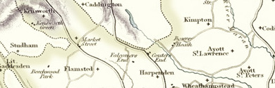 Old Map of Hertfordshire