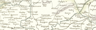 Old map of Browsholme Moor centred on your home