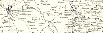 Old map of Bourne South Fen centred on your home