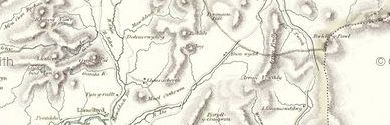 Old map of Afon Cwmhesgen centred on your home