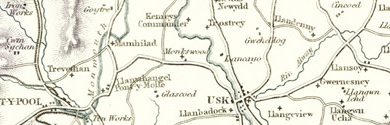 Old Map of Monmouthshire