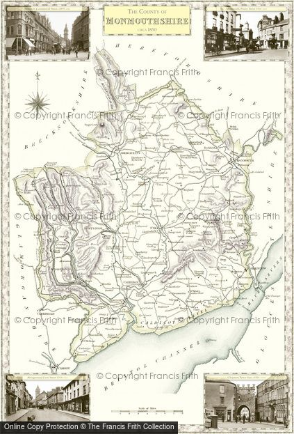 Map of Monmouthshire