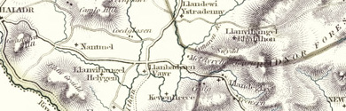 Old Map of Radnorshire