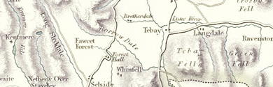 Old map of Bowerdale Beck centred on your home