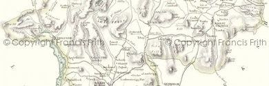 Old map of Bowfell Links centred on your home