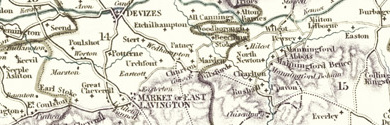 Old map of Brouncker's Well centred on your home