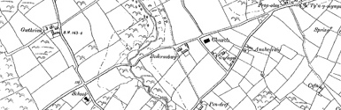 Old map of Aberdaron centred on your home