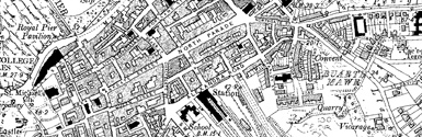 Old map of Aberystwyth centred on your home