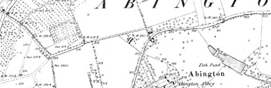 Old map of Abington centred on your home