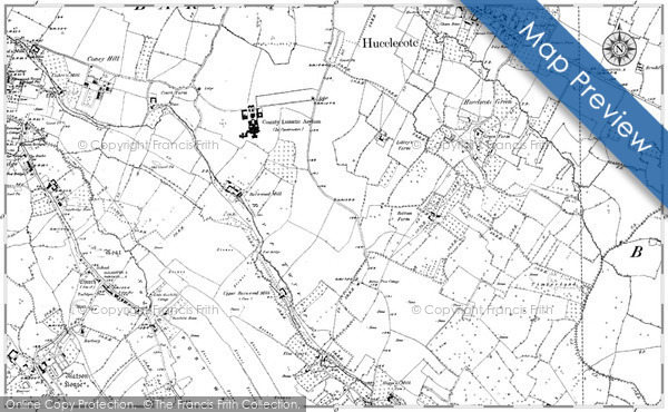 Historic map of Ashfield Cott