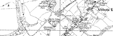 Old map of Ballinreach centred on your home