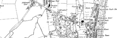 Old map of Aldeburgh Bay centred on your home