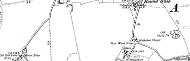 Old map of Alness Point centred on your home