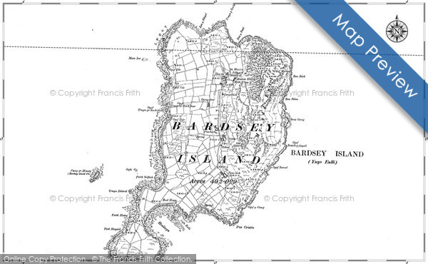 Historic map of Bardsey Sound