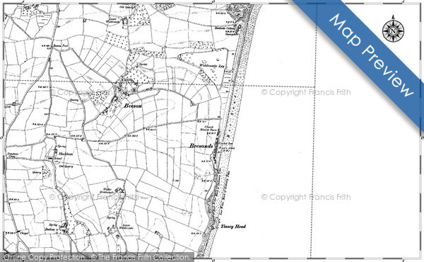 Historic map of Beesands