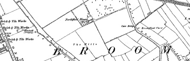 Old map of Brotherton centred on your home