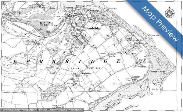 Historic map of Bembridge Ledge