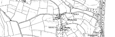 Old map of Bickerton centred on your home