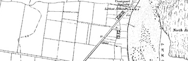 Old map of Boulmer Steel centred on your home