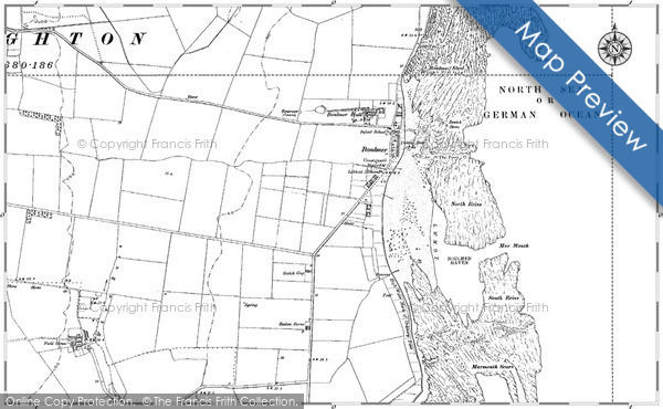 Historic map of Boulmer Steel