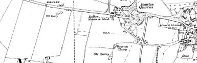 Old map of Boyne Castle centred on your home