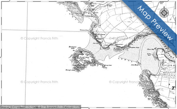 Historic Map covering Ayrmer Cove