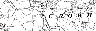 Old map of Baile na Cille centred on your home