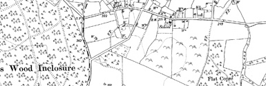 Old map of Abbots Wood Inclosure centred on your home