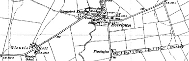 Old map of Beckhall centred on your home