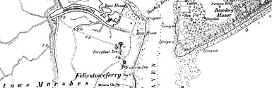 Old map of Bawdsey Manor centred on your home