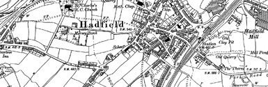 Old map of Brookfield centred on your home