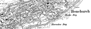 Old map of Bonchurch centred on your home