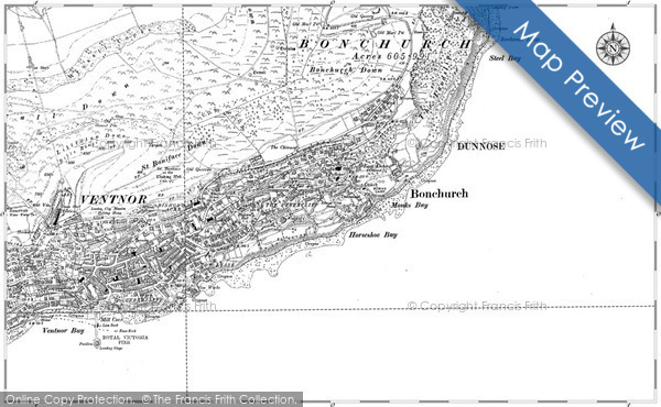 Historic map of Bonchurch