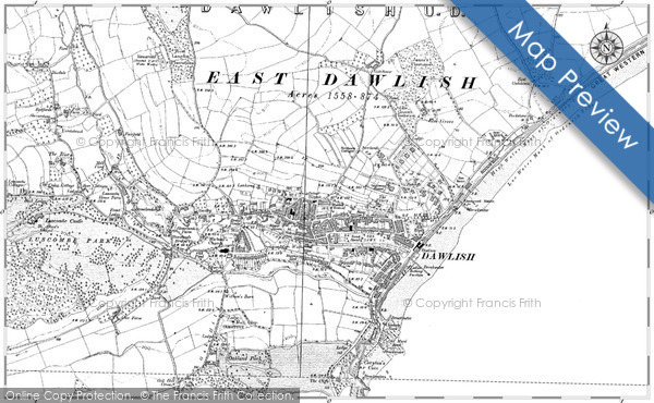 Historic Map of Dawlish