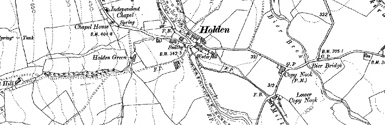 Old map of Beacon Hill centred on your home