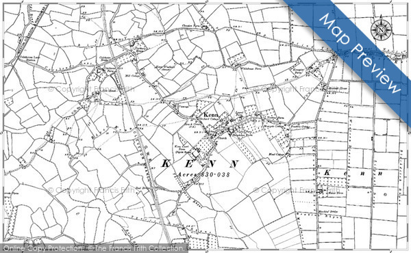 Historic map of Birkshaw Forest
