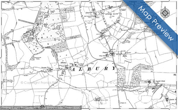 Historic map of Broomknowe