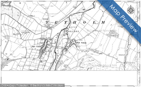 Historic Map covering Bowmont Water