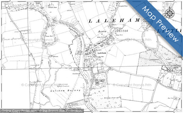 Historic map of Laleham