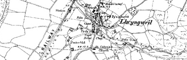 Old map of Bodwylan centred on your home