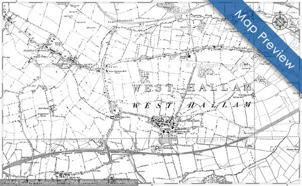Historic map of Bawden Rocks