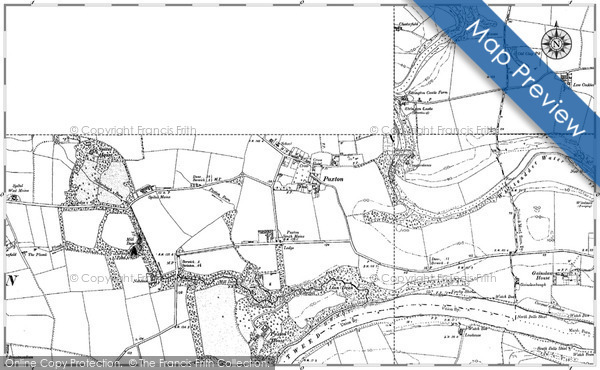 Historic map of Baldersbury Hill