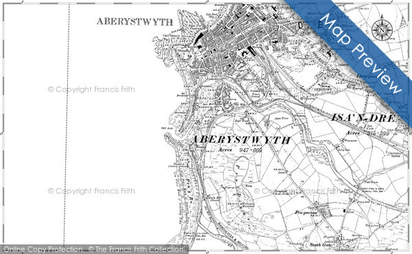 Historic map of Allt-wen