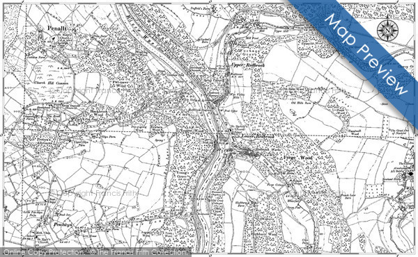 Historic Map covering Blythswood