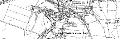 Old map of Boulby centred on your home