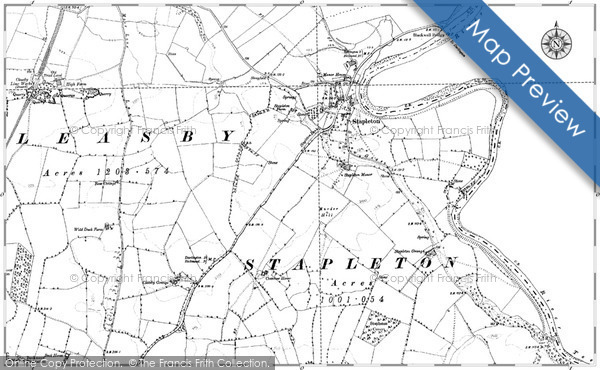 Historic Map covering Blackwell